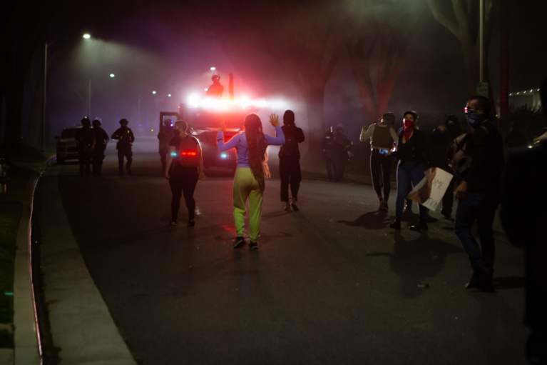 Embedded with the Beverly Hills Protestors: One Reporter's Story