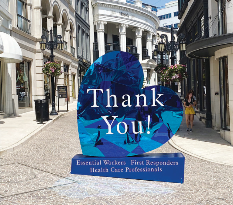 New Two Rodeo Drive Artwork Pays Tribute to First Responders