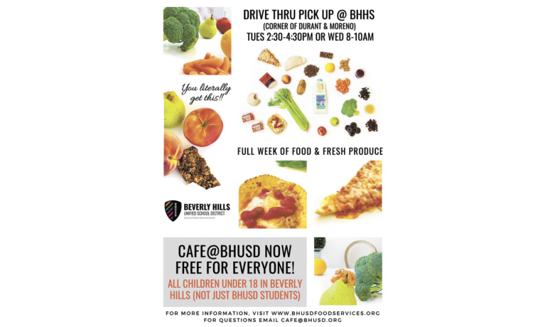 Cafe@BHUSD Will Feed All Beverly Hills Children