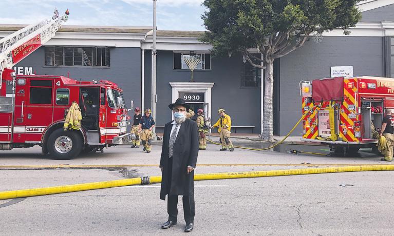 Fire Damages JEM Community Center in Beverly Hills