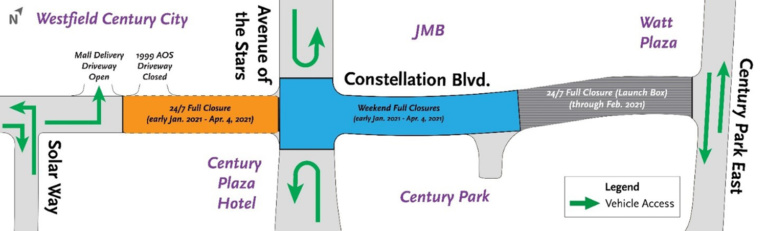 Metro to Reclose Constellation Boulevard Through April