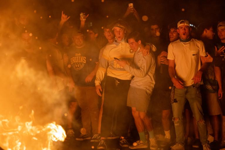 UCLA Win Sparks Risky Revelry