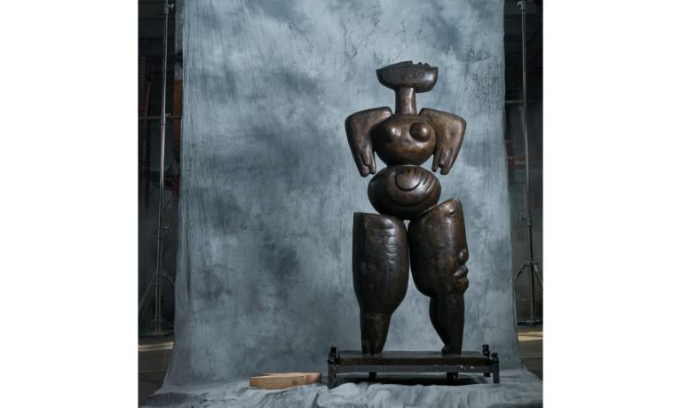 Installation Underway for  Alexandra Nechita Bronze