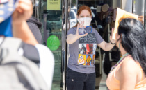 Anti-Maskers Protest Sephora in Beverly Hills