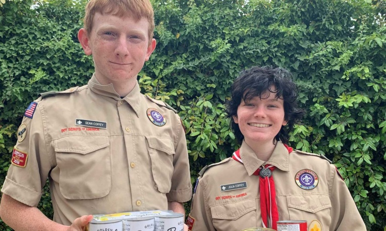 Beverly Hills Troop 110 Holding Food Drive