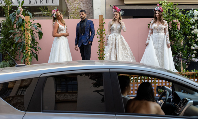 GLAUDI's Drive-Thru Fashion Show Brightens Brighton