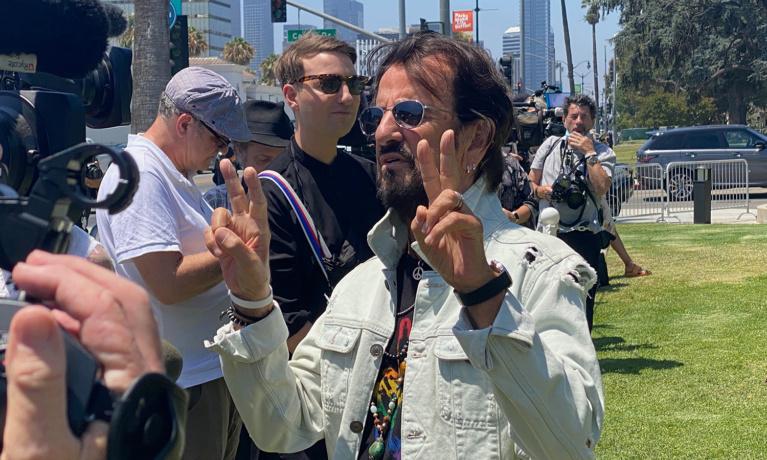 "Ringo Starr's Birthday Wish for ""Peace & Love"" Around  the World"