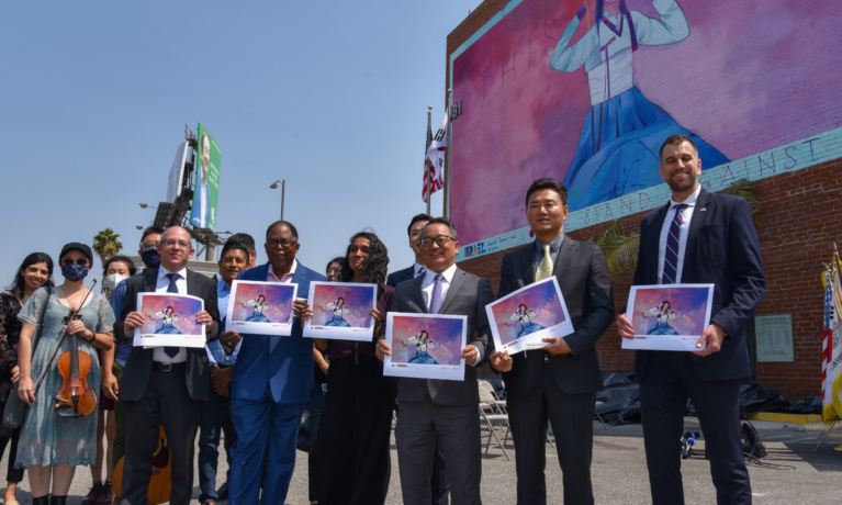 Anti-Hate Mural Unveiled