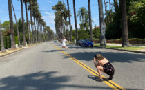 Tourists Taking Risky Canon Drive Photos in Beverly Hills
