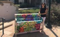 "LA Artist Brings ""Succulent Garden"" Piano to City Hall"