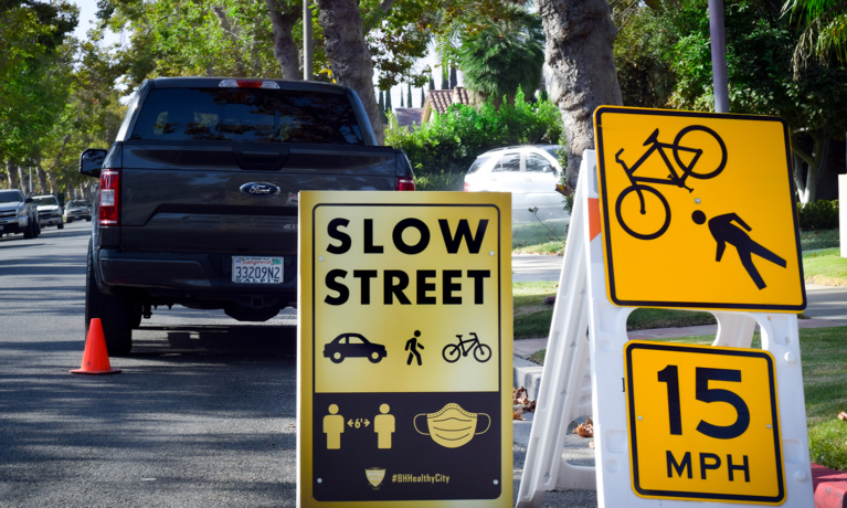 Slow Streets Program Continues to Roll Out in Beverly Hills