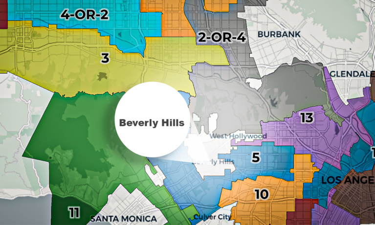 What Redistricting Could Mean for Beverly Hills' Neighbors